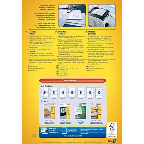 Blanc - 99,1x38,1mm Impression Laser Avery L7163 Bo/îte de 1400 Etiquettes Autocollantes 14 par Feuille