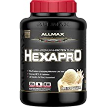 ALLMAX Nutrition Hexapro Ultra-Premium Protein MCT Coconut Oil French Vanilla 5 5 lbs 2 5 kg