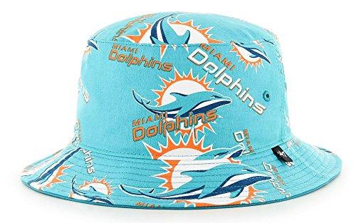 Dolphins Miami Custom Jersey - Miami Dolphins NFL 47 Brand White Bravado Bucket Hat - Aqua