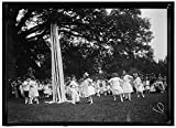 Vintography Reproduced 24 x 30 Photo Friendship Charity Fete. Maypole Dance 1915 Harris & Ewing a32