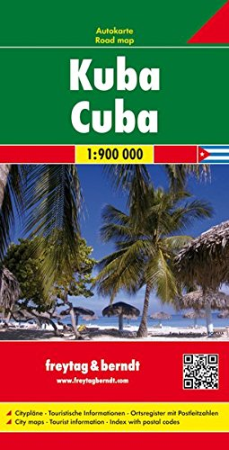 Cuba 1:900 000 (English, Spanish, French, Italian and German Edition)