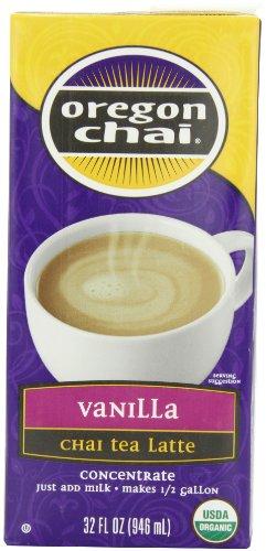 Chai Oregon Vanilla Tea - Oregon Chai Vanilla Chai Tea Latte Concentrate, 32-Ounce Boxes (Pack of 6)