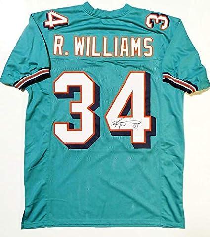 4b5c65509 Ricky Williams Signed Jersey - Teal Pro Style W  Across 4 - JSA Certified -