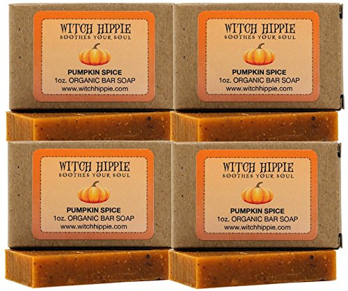 Pumpkin Pie Lavender (Pumpkin Spice 1oz Orgainic Bar Soap by Witch Hippie-4 pack)