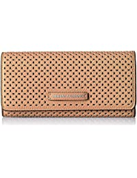 A X Armani Exchange Perforated Pebble Pu Continental...