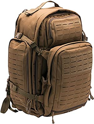 LA Police Gear Tactical Backpack Atlas - 72 Hour 3 Day Capacity. Designed for Police, Military, Security and First Responders. Molle Laser Cut Webbing and Comfort Straps. Hydration Pouch Pocket.