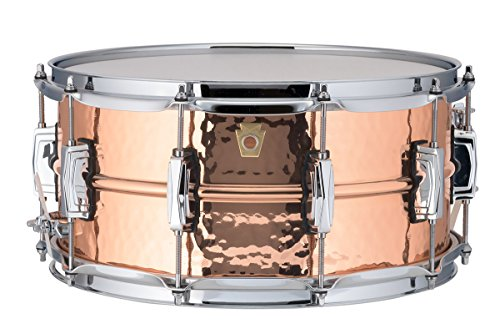 Ludwig Copper Phonic Hammered Snare Drum 14 x 6.5 in. Copper Finish with Imperial Lugs by Ludwig