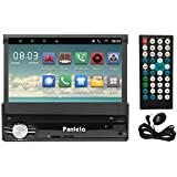 Car Stereo | Panlelo T1 Single DIN GPS Navigation Android 6.0 Quad Core RAM 1G ROM 16Touch Screen Head Unit Folding Monitor Auto Radio Audio Built-in AM/FM BT WiFi Steering Wheel Control In-Dash Video
