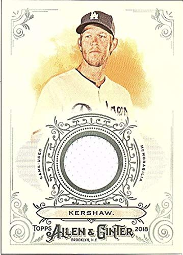 2018 Topps Allen and Ginter Relic #FSRB-CR Clayton Kershaw MEM Dodgers Used Jersey Baseball Card from Topps