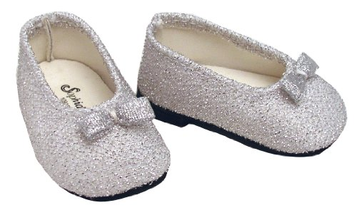 Silver Glitter Doll Dress Shoes