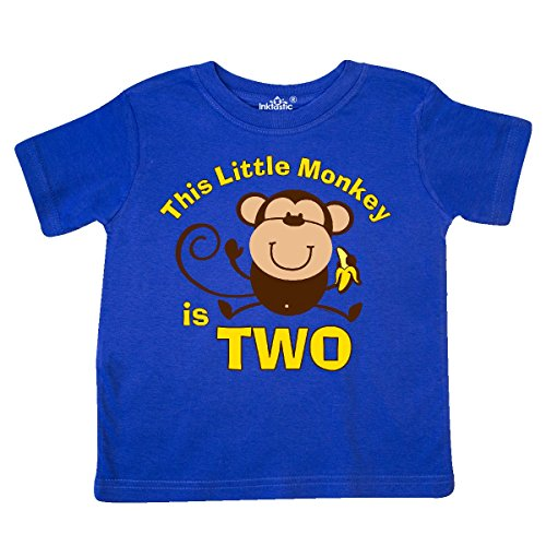 Toddler Boys Monkey (inktastic Little Monkey 2nd Birthday Boy Toddler T-Shirt 2T Royal Blue)