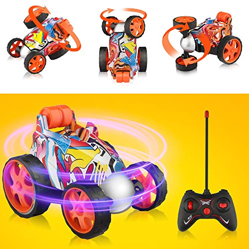 Blasland Remote Control Car - RC Vehicle Four Wheel Stunt Car, 360 Degree Rolling Rotating Rotation Stunt Car Toy , RC Stunt Toy Cars for Toddlers, Kids, Boys & Girls (Remote Control Cars Toy)