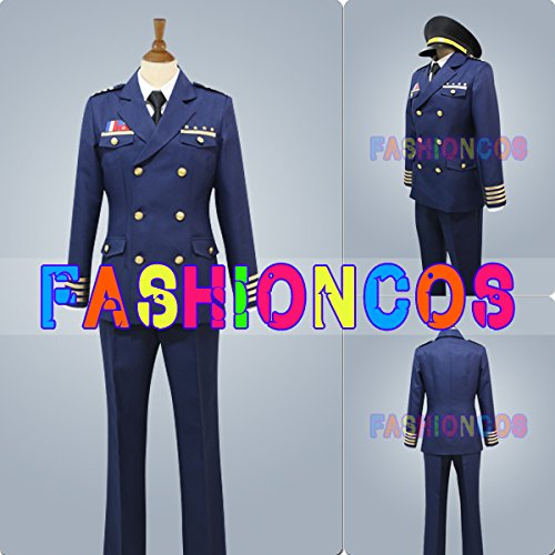 女性Mサイズ QS147 うたの☆プリンスさまっ Shining Airlines 先輩 制服 コスプレ衣装 B00QHNQMBK