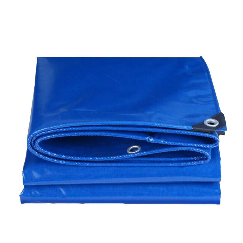 DALL ターポリン タープカバー 防水 ボート プールカバー 350g /m² 日焼け止め レインカバークロス (色 : 青, サイズ さいず : 5*8m) 5*8m 青 B07KPTWWCJ