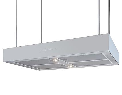 Bielmeier v875750 inselhaube 60 cm randabsaugung silber weiß