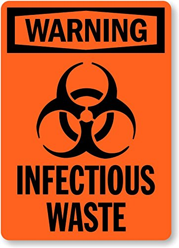 photograph about Biohazard Sign Printable named : Infectious Squander (with Biohazard Emblem