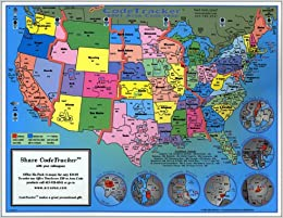 2001 CodeTracker Area Code Map : area codes of US ...