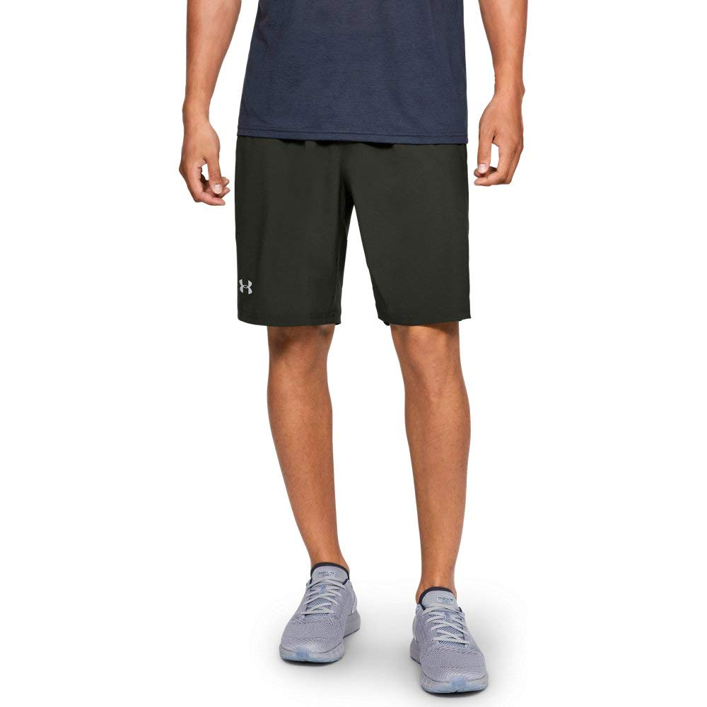Under Armour Men's Launch 9'' Shorts, Artillery Green (357)/Reflective, Small