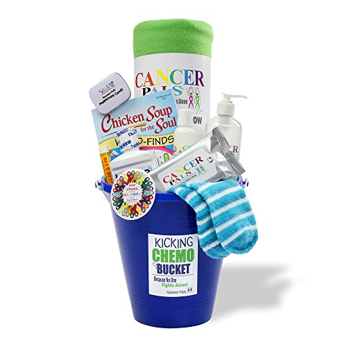 Cancer Chemotherapy Care Package Gift Basket-Kicking Chemo Bucket (Chemo Gift Basket)