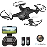 tech rc Mini Drone with Camera, WiFi FPV Quadcopter Drone, Long Flight Time with 2 Batteries, Auto Hovering, Headless Mode, One-Key Flight, App Control Available Toy Drone for Kids and Beginners