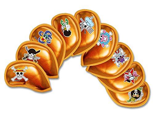 与えるシャンパン調停するONE PIECE 麦わらの一味 海賊旗 カラー:オレンジメタリック 9個セット アイアンカバー