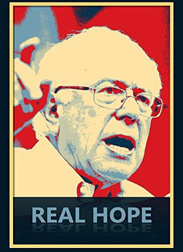 Hope Rectangle Magnet (Rectangle Refrigerator Magnet - Real Hope - Presidential Candidate Design)