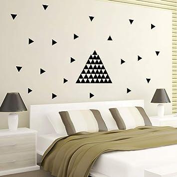 XCGZ Pegatinas de pared 5 Cm Triángulos Pegatinas De Pared, 154 Pc ...