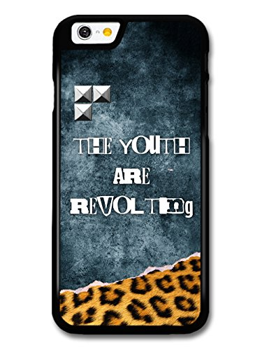 The Youth are Revolting Quote Punk Anarchy Goth Grunge wiht Leopard Print case for iPhone 6 6S