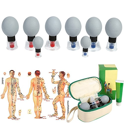 Vacuum Magnetic Cupping, 18pcs/12pcs/8pcs Silica Gel Suction Cup Acupuncture Moxibustion Massage Set for Relief Muscle Soreness,Toning Cellulite (8pcs)