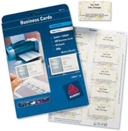 Avery España C32011-25 - Pack de 25 folios de tarjetas de visita ...