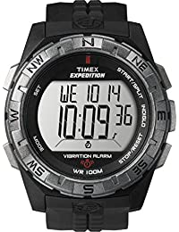Men's T49851 Expedition Vibrating Alarm Black Resin Strap Watch