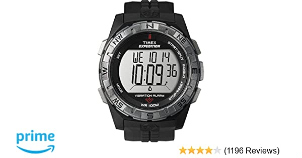 64516541e Amazon.com: Timex Men's T49851 Expedition Vibration Alarm Black Resin Strap  Watch: Timex: Watches