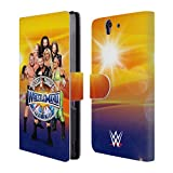 Official WWE Group Wrestlemania 33 Superstars Leather Book Wallet Case Cover For Sony Xperia Z5 / Z5 Dual