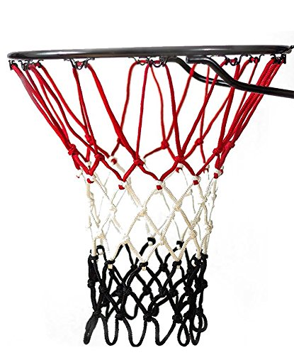 Basketball Net | NCAA & NBA Size | Fits Indoor and Outdoor Hoop/Goal | Replacement Netting for Official, Boys, Youth, Pool/Poolside Games. Blue, Yellow, Gold, White, Black & more by Fandom Nets (Official Basketball Hoop Size)