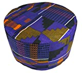 Decoraapparel African Kente Kufi Women Dashiki Hat Men Cap Tribal Traditional Kofi