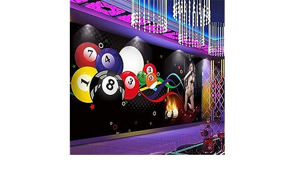BZDHWWH Fondo De Pantalla Mural Personalizado Bola De Billar 3D Club De Belleza Herramientas De Gimnasio De Fondo Decoración De La Pared Pintura,250Cm (H) X 375Cm (W): Amazon.es: Bricolaje y herramientas