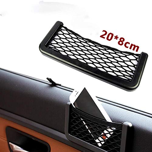 keebgyy Car Seat Side Storage Net, Hard Black Plastic and Strong Net, for Key Phone Purse Cigarette and Other Small Item(208cm)