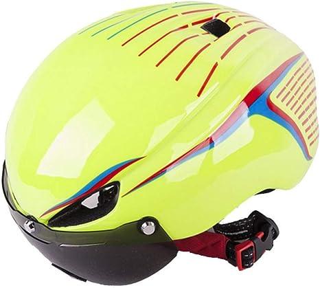 ZHAOJTK Equipo de Proteccion Casco de Bicicleta Gafas de protección Hombres Hombres Lente Ciclismo Cascos Shield Visor Road Bike Cascos MTB Gafas magnéticas Casco de Bicicleta (Color : Green): Amazon.es: Deportes y