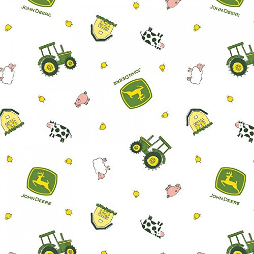 John Deere-Nursery 43/44 Wide 100% Cotton D/R-Animal Toss