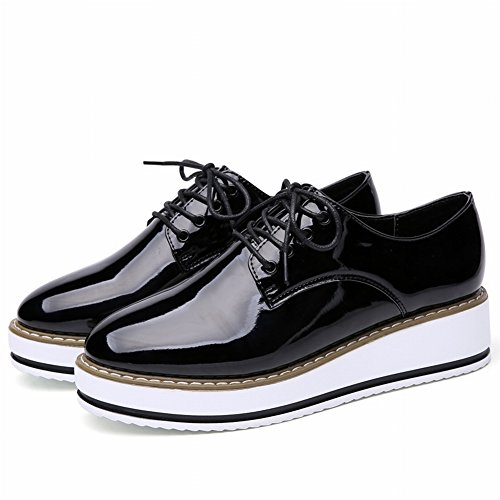 Crossed Straps Women's Shoes White Skins Women's Muffins with Thick Casual Sports Shoes Women's Running Shoes , black , EUR36.5