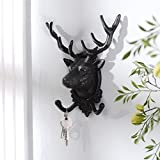 Home wall decoration / wall wall decoration / iron hat rack hook ( Color : Black )