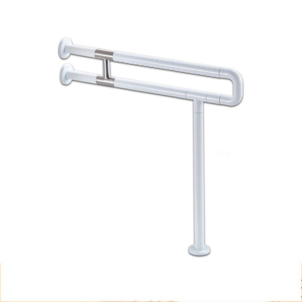 手すりの安全な入浴 U型トイレアームレスト棚安全性高齢者障害者用トイレ手すり高齢者高齢者バリアフリーハンドル(スタイルを強化するための304ステンレス鋼) バスルームアクセサリ YJR-浴槽手すり ( 色 : 白 )  白 B076HJ6J1J