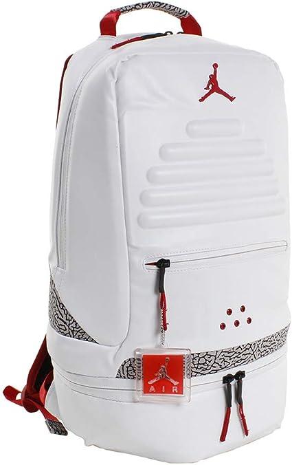 Nike Air Jordan Retro 3 III White Backpack Bookbag (One Size