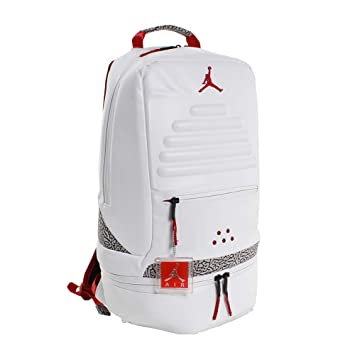 Nike Air Jordan Retro 3 III White Backpack Bookbag (One Size ...