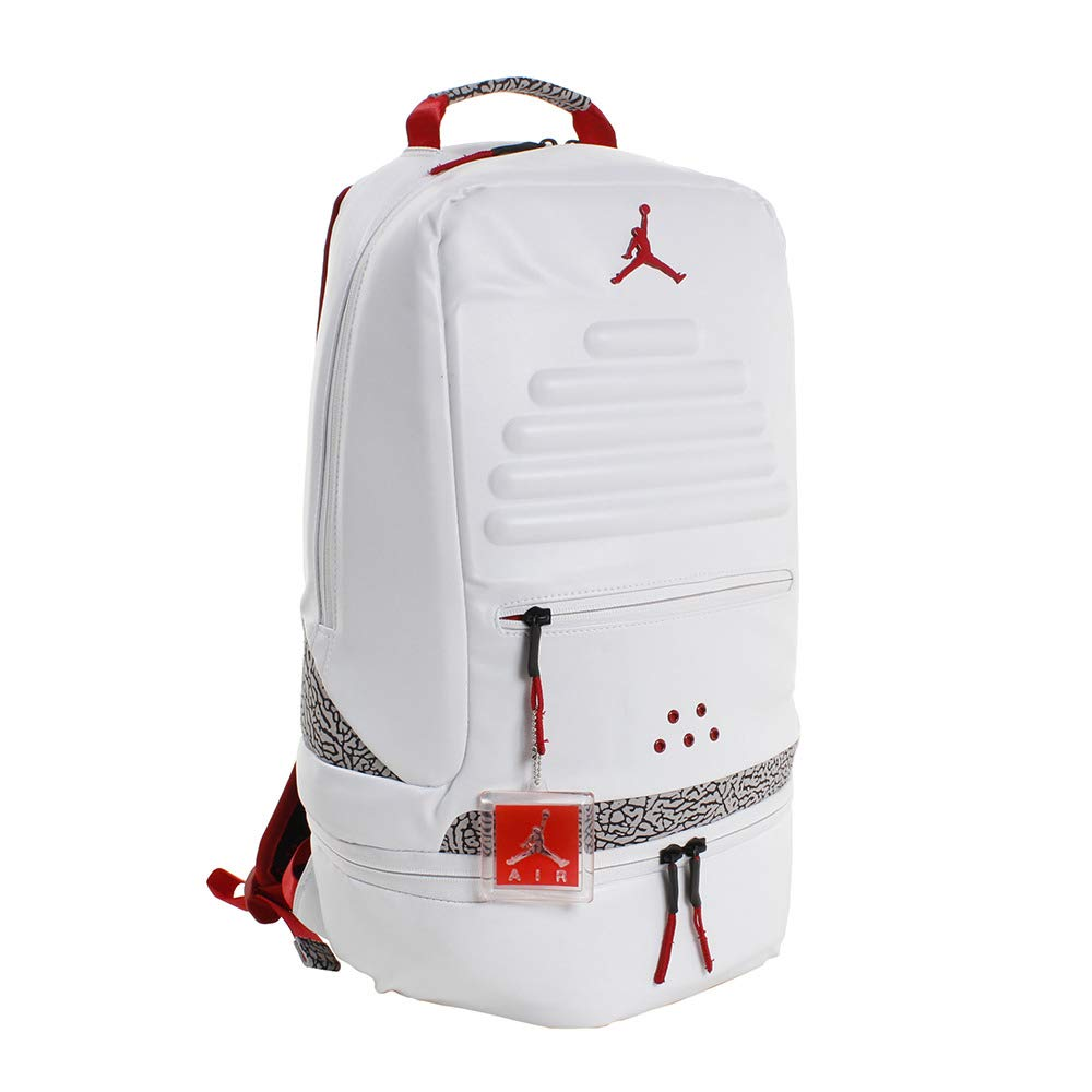 quality design d18e1 a3840 Galleon - Nike Air Jordan Retro 3 III White Backpack Bookbag (One Size,  White Fire Red)