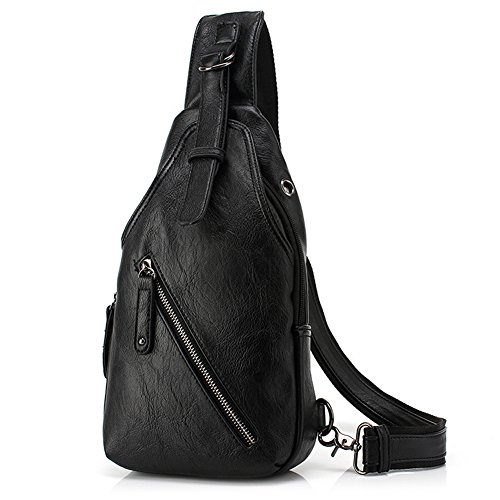 b768b682429d Amazon.com  Stuo Men s Sling Chest Shoulder Bag Crossbody Purse Water  Resistant Anti Theft Daypack for Business Travel Hiking School Black   Computers   ...