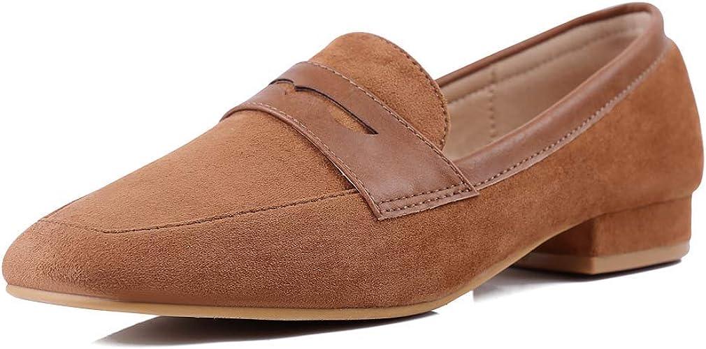 Sydowey Leather Loafers Women Low Heel