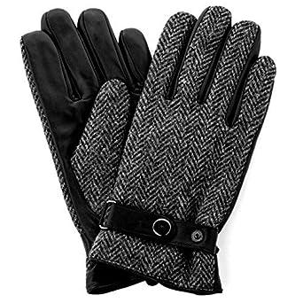 8e85fcba8b8 Harris Tweed Luxury Designer Adult Leather Wool Mens Gloves Woollen Winter  Warm