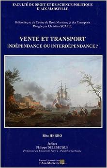 Book Vente et transport : indépendance ou interdépendance ?