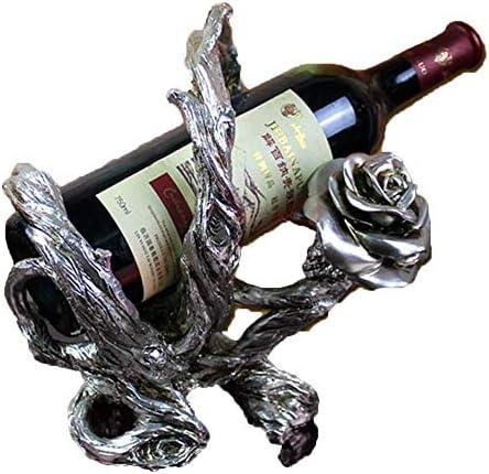 Estantería de vino Sencillo estante del vino, Rose Europea Viña del estante del vino creativo de vino tinto Estante for el Modelo de habitaciones Bar Ktv regalo de boda Decoración estante de vino pequ